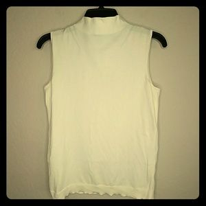Talbots Off White Sleeveless Shell Top Size S